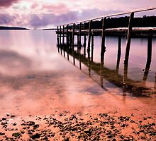 Old Jetty Bay of Fires Tasmania by Imi Koetz