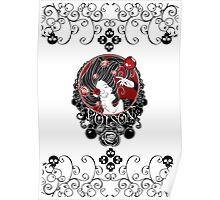 Poison - Black Rose on White Poster