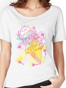 Ice_Cream_Paint Women's Relaxed Fit T-Shirt