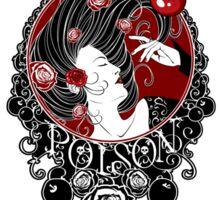 Poison - Black Rose on White Sticker