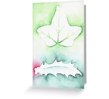 'Holly & Ivy' Christmas design - Aquamarkers. Greeting Card
