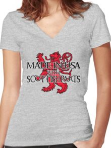 Made in USA with Scottish parts Women's Fitted V-Neck T-Shirt