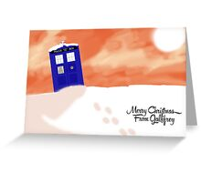 Gallifrey snow scene (With Text) Greeting Card