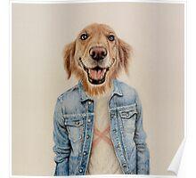happy dog cowboy Poster