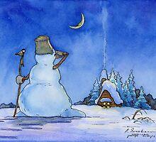 Snowman by Aleksandr Yankovsky
