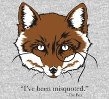 """""""What the Fox Say"""" T-Shirt """"I've been misquoted."""" -The Fox Kids Clothes"""