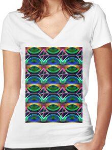 Opium Women's Fitted V-Neck T-Shirt