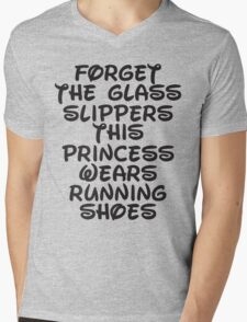 Forget The Glass Slippers, This Princess Wears Running Shoes Mens V-Neck T-Shirt