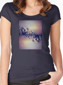 Amalgamation - Sunset Mountains Women's Fitted Scoop T-Shirt