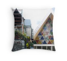 Stone and Cardboard Throw Pillow