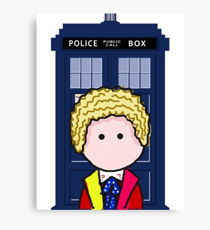 The 6th Doctor Canvas Print