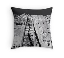 Puye Cliff Dwellings, New Mexico Throw Pillow