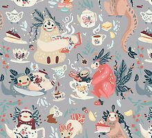 Tea Spirit Patter by LKIllustration