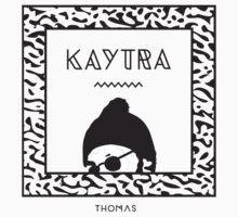 Kaytranada with white 'kayta' and white face by Brad my name is Brad