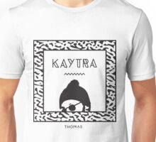 Kaytranada with white 'kayta' and white face Unisex T-Shirt