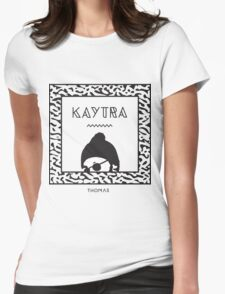 Kaytranada with white 'kayta' and white face Womens Fitted T-Shirt