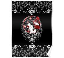 Poison - Black Rose on Black Poster