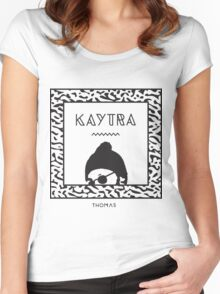 Kaytranada with white 'kayta' Women's Fitted Scoop T-Shirt