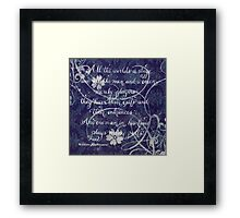Shakespeare quote calligraphy art Framed Print