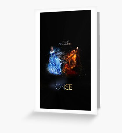 Fire VS Ice - Regina and Elsa Greeting Card