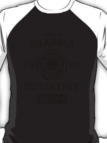 Dharma Initiative athletic department (Black ver.) T-Shirt
