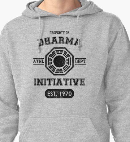 Dharma Initiative athletic department (Black ver.) Pullover Hoodie