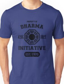 Dharma Initiative athletic department (Black ver.) Unisex T-Shirt