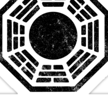 Dharma Initiative athletic department (Black ver.) Sticker