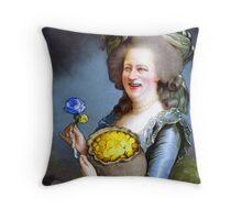 Allegory : David Cameron as Madame Déficit Throw Pillow