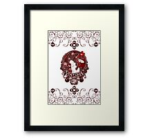 Poison - Blood Rose on White Framed Print