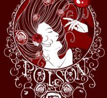 Poison - Blood Rose on Red Sticker