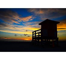 Lifeguard Tower Photographic Print