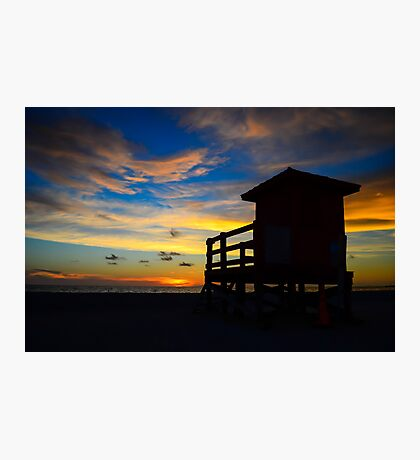 Lifeguard Tower Photographic Print