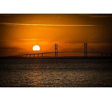 Sidney Lanier Suspension Bridge at Sunset Photographic Print