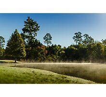 Low fog Lake Photographic Print