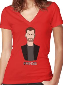 Peter - Fringe Women's Fitted V-Neck T-Shirt