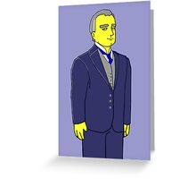 Lord Grantham - Hugh Bonneville - Downtown Abbey Greeting Card