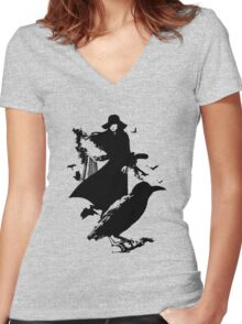Female Convict Scorpion Women's Fitted V-Neck T-Shirt