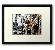 DOWNTOWN: NASHVILLE, TENNESSEE, U.S.A....BEFORE THE FLOOD Framed Print