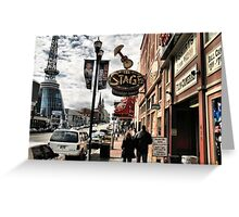 DOWNTOWN: NASHVILLE, TENNESSEE, U.S.A....BEFORE THE FLOOD Greeting Card