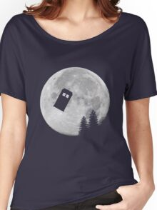 Tardis by the Moon Women's Relaxed Fit T-Shirt