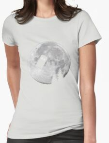 Tardis by the Moon Womens Fitted T-Shirt