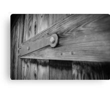 Wooden Door Close Up Canvas Print