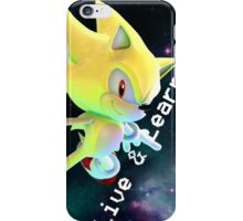 Super Sonic - Live and Learn iPhone Case/Skin