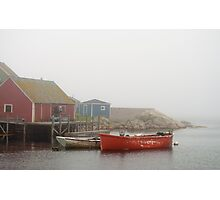 Boats In Peggy's Cove Photographic Print
