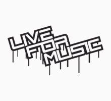 Live For Music Graffiti Logo Design by Style-O-Mat