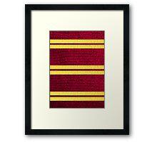 Knitted Scarf - Gryffindor Framed Print