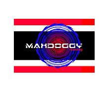 Maxdoggy Gaming - Black Outline Photographic Print