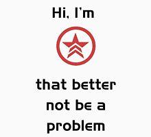 Hi, I'm Renegade- Mass Effect Men's Baseball ¾ T-Shirt