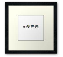 Elephant chain Framed Print